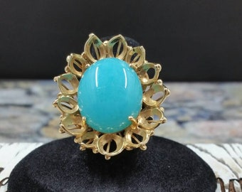 Vintage Blue Chalcedony Ring