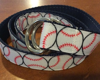 Baseball  Ribbon Belt
