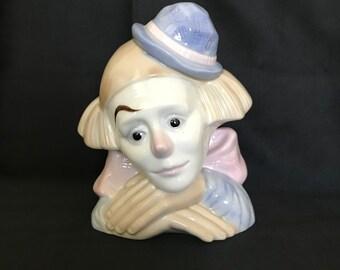 Porcelain clown bust