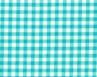 Daisy Dance Collection - Picnic in Aqua - 1 yard