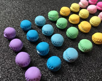 16pc. Rainbow Miniature Macaroons, Polymer Clay, So Kawaii!