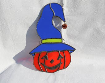 Stained Glass Jack-O-Lantern Suncatcher - Stained Glass Suncatcher - Jack-O-Lantern Suncatcher - Halloween - Jack-O-Lantern - Fall Decor