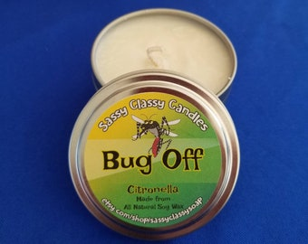 Bug Off Citronella Scented 6 ounce Candle