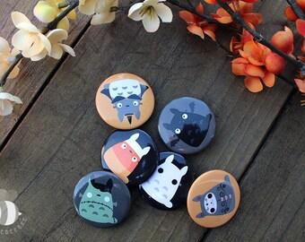 Super Spoopy Totoro Button Set