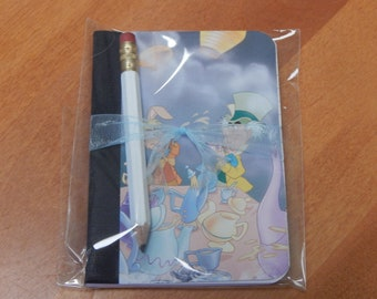 Up cycled MINI Composition Book Disney Alice in Wonderland