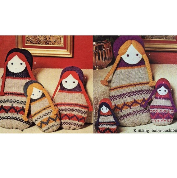INSTANT DOWNLOAD PDF Vintage Knitting Pattern Russian Doll