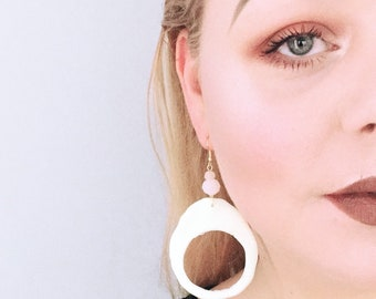 Glow-in-the-dark Hoop Earrings