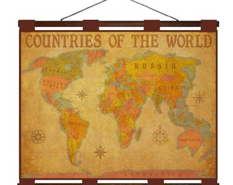 Antique world map 1m handmade leather wall hanging travel world map 8m handmade leather wall hanging 24x18 travel art gumiabroncs Gallery