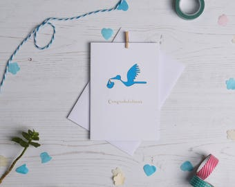 New baby Card. Paper cut card, Card, Expecting Card, New mum card, New dad card, Baby card, FREE P&P!
