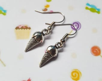 Ice cream earrings, Ice cream pendant, Dangle earrings, Ice cream,  Ice cream cone, Summer jewellery, Holiday jewellery, Beach, Seaside