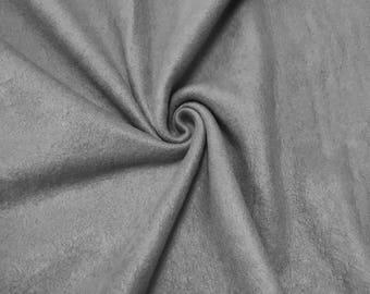 """Solide Polar Fleece stof anti-pill 60"""" grijs breed door de werf"""