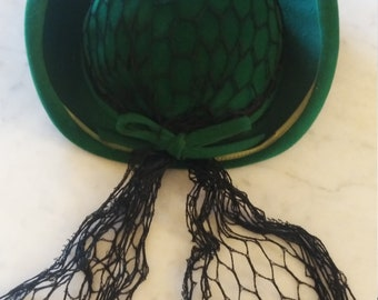 1950s Green New York Creation hat