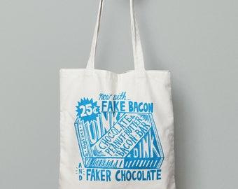 Vegan-Friendly Bacon Bar Tote Bag
