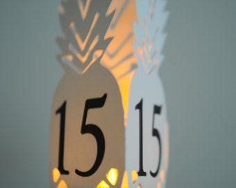Pineapple Table Number Lantern