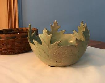 Artisan Etched Decorative Bowl