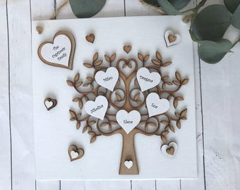 Personalised Family Tree Wall Hanging Gift Decor P60