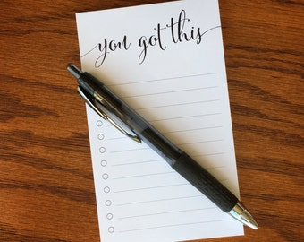Short To Do List Pad, Things To Do Note pad, List Notepad, Task list pad, To Do List Notepad
