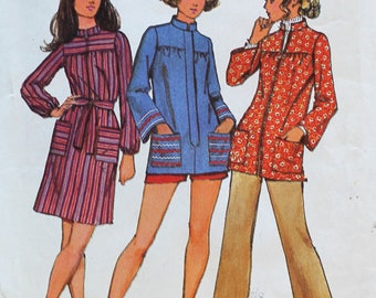 1970s Smock Pattern - Uncut Simplicity 9675 Sewing Pattern - Bust 40