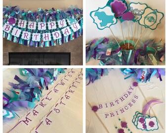 Ariel Birthday Party - Little Mermaid Birthday - Ariel Banner - Little Mermaid Party - Little Mermaid - Ariel Birthday Package