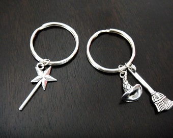 Wicked Musical Elphaba and Galinda Set Bad Witch Good Witch Key Chains