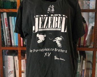 Gene Loves Jezebel / Authentic concert band tee 100% cotton shirt / The Pre-Raphaelite Brothers Tour / 1980s