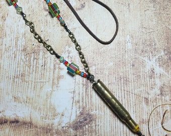Bullet Boho Cowgirl Necklace