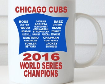 GO CUBS GO Coffee Mug, Fly the W, Chicago Cubs Mug, Cubs Win World Series 2016