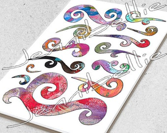 Artful Flourishes Digital Collage Sheet by Jennibellie