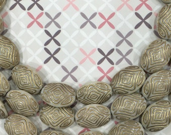 Bohemian beads-boho beads-oval beads-beads