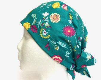 Surgical Scrub Hat, Scrub Hats, Scrub Caps, Scrub Hat, Scrub cap, Pixie style, Turquoise, Teal, women's scrub hats, women's scrub caps