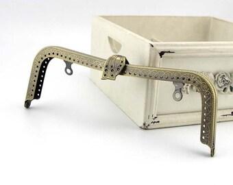 20cm(7.87inch) antique bronze sewing metal purse frame A023-antique