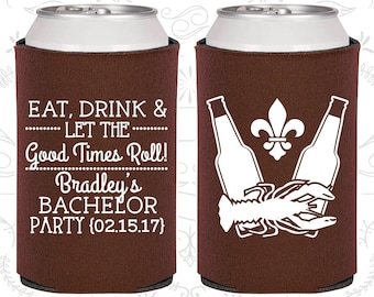 Eat Drink and Let the good Times Roll, Personalized Bachelor Party Favors, Nola Bachelor Party, Mardi Gras Bachelor Party (40077)