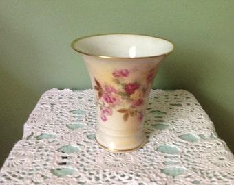 Porcelain Sunset Rose German Vase