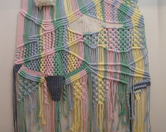 Tapestry of Macrame in various colors