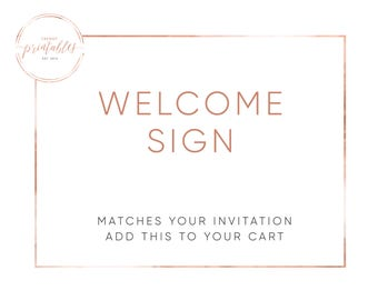 Welcome Sign, Baby Shower Welcome Sign, Bridal Shower Welcome Sign, Shower Sign, Baby Shower, Bridal Shower, Invitations, Digital Invites
