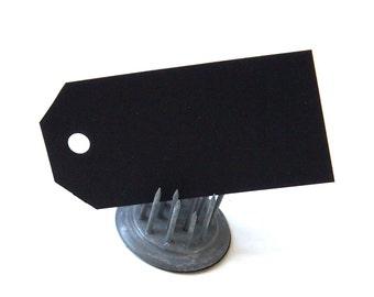 "20 Classic Cut Mini Craft Tags in BLACK . 1.25"" x 2.5"""