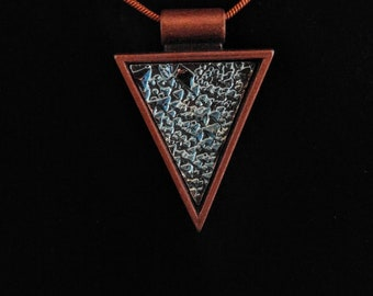Bronze Bismuth Crystal Arrowhead /necklace /pendant /crystal /luminescent /rainbow /rare /jewelry