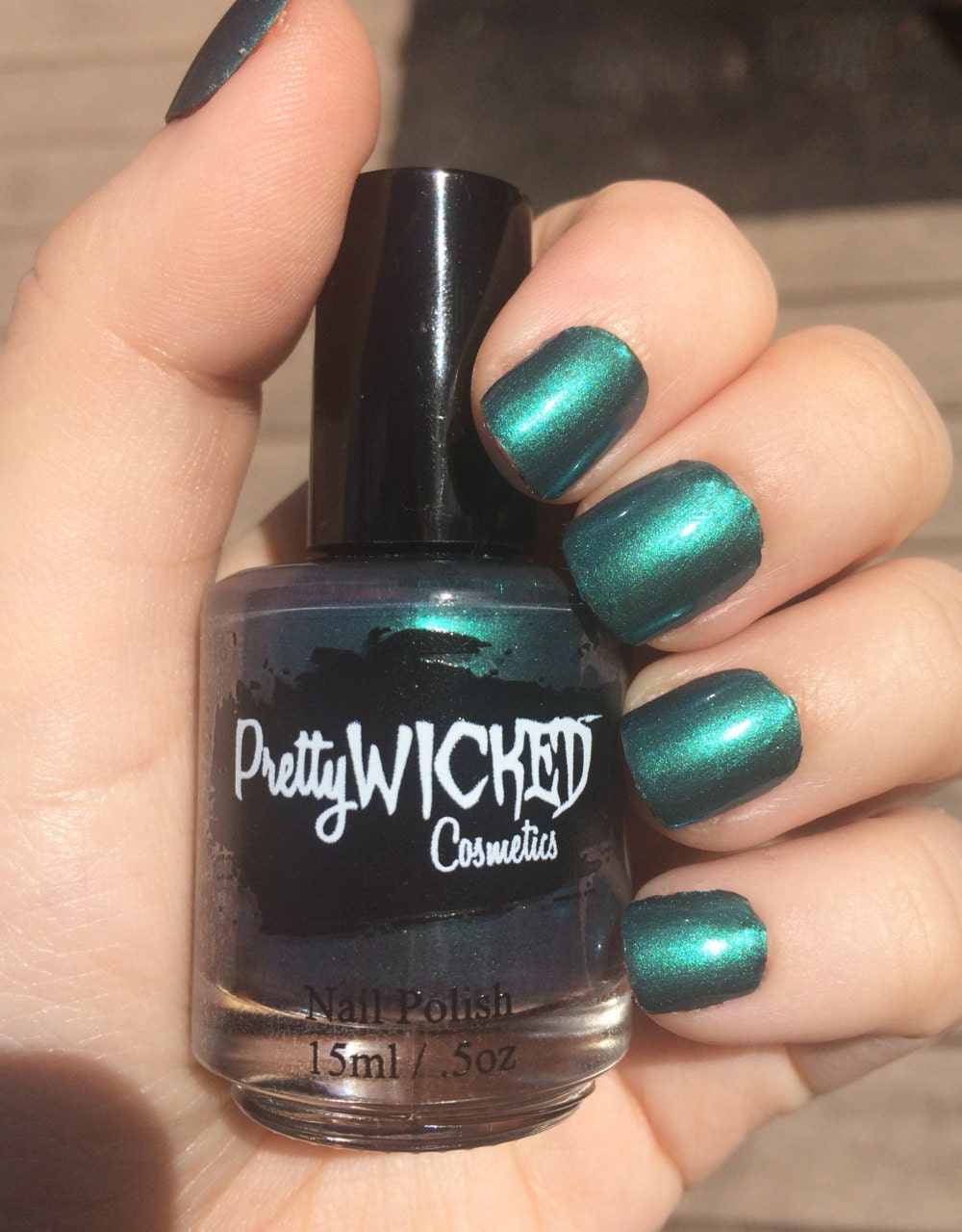 Dark Sea Green Nail Polish, Imogen Polish, Greenish Blue Nail Polish ...