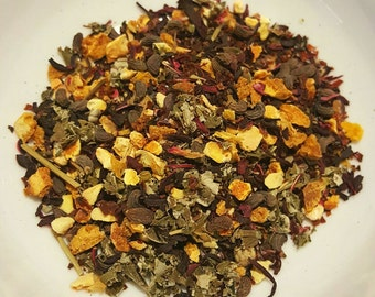 Sweet Delight - Loose Leaf Organic Tea, Herbal Tea, Blackberry Leaf, Rosehips, Hibiscus, Privet Fruit, Orange Peel, Sweet Tea, Vegan Tea