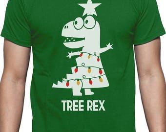 Tree Rex Funny T-Rex Dinosaur Christmas T-Shirt