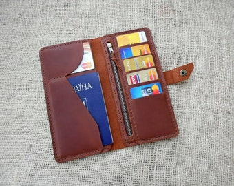 Personalized leather wallet,long wallet,Leather Wallet mens,wallet men,credit card wallet,mens wallet,wallet gift
