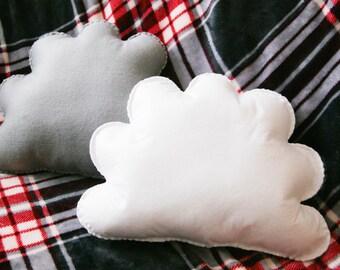 Cloud Cushion Set, Grey Cloud, White Cloud, Cloud Pillow, Home Decor, Cloud Decor, Cloud Room, Baby Nursery Decor, Kids Room, Cloud nursery