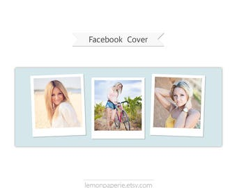 Facebook Timeline Cover, Photoshop Template - FT224 - INSTANT DOWNLOAD