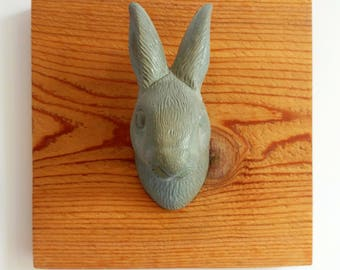 Concrete Rabbit Wall Mount