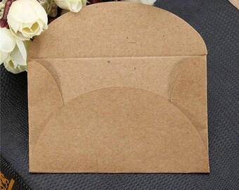 10 beautiful mini envelopes color kraft 6 * 9cm