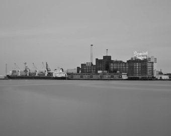 Baltimore Art, Baltimore Domino Sugar,  Black and White Fine Art Photography, Baltimore Photography, Baltimore Skyline