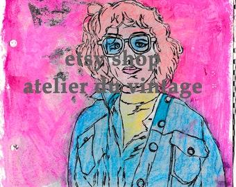Digital mixed media illustration