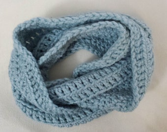PATTERN: Subtle Stripes Infinity Scarf (crochet pattern)