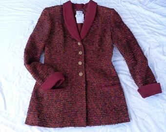 long jacket size 40-12 uk 10 us CHANEL