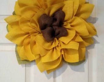 Sunflower Wreath // Fall Wreaths // Front Door Wreath // Fall Decor // Wedding Decor // Barn Wedding Decor // Ladies Gift // Fall Wedding